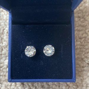 NWOT Swarovski 1CT /ea Round CZ Earrings